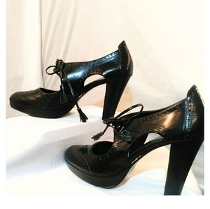 Rockabilly cutout oxford heels